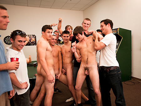 Student Cock Blog Archive College Frat Party In The Game Room