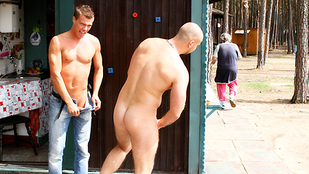 Bareback Camp! outinpublic out in public places gay sex videos