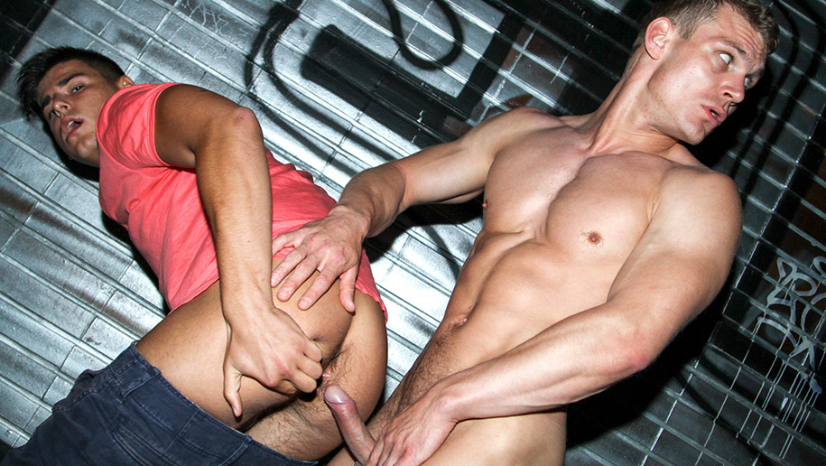 Gay sex in public place