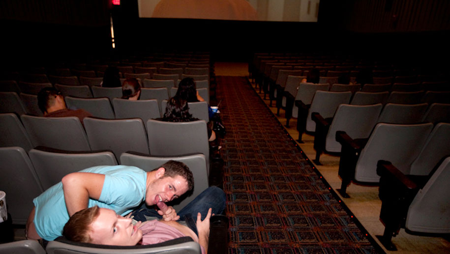 Fucking In The Theater outinpublic out in public places gay sex videos