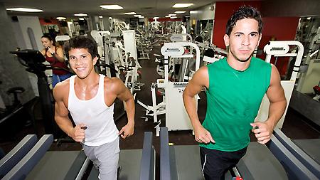 Gay sex in public gym