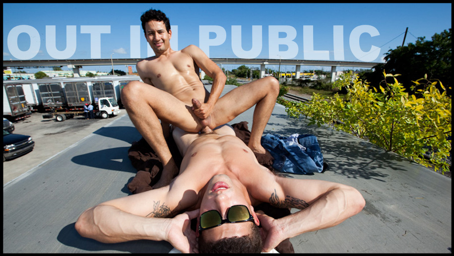 Out And About! outinpublic out in public places gay sex videos