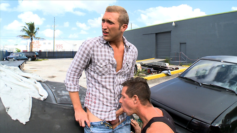 Fucked In The Parking Lot  outinpublic out in public places gay sex videos