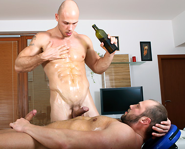 Gay dp creampie